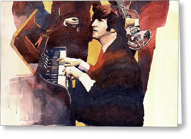 The Beatles 01 Greeting Card by Yuriy  Shevchuk