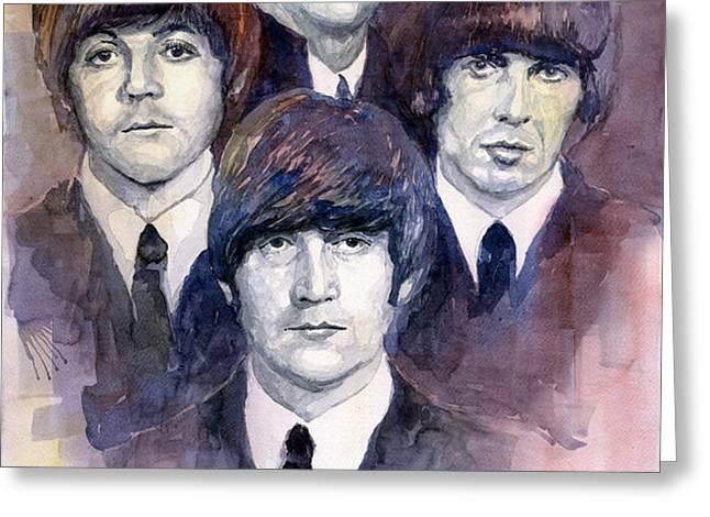 The Beatles 02 Greeting Card by Yuriy  Shevchuk