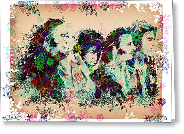 British Portraits Digital Art Greeting Cards - The Beatles 10 Greeting Card by MB Art factory