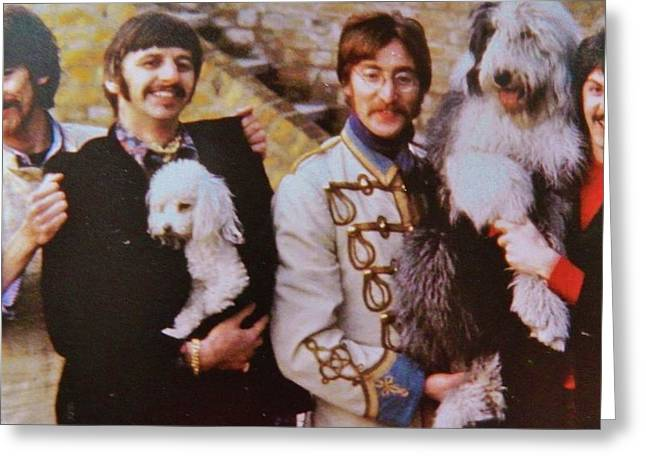 Deutschland Mixed Media Greeting Cards - The Beatles  1962 Greeting Card by Gunter  Hortz