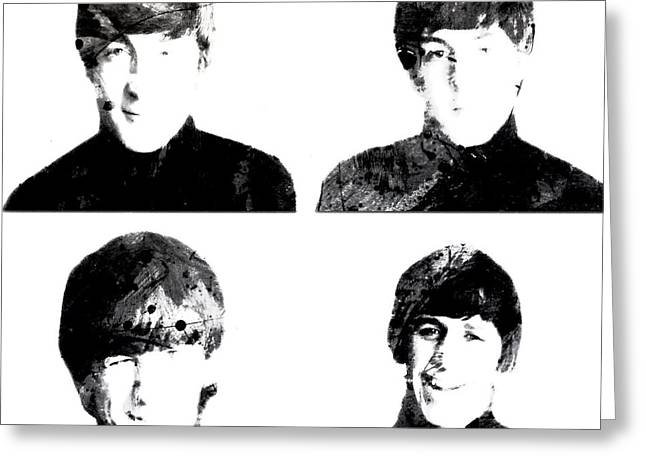 Badfinger Greeting Cards - The Beatles 1a Greeting Card by Brian Reaves