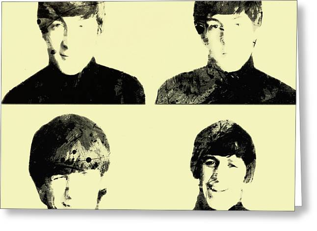 Badfinger Greeting Cards - The Beatles 1b Greeting Card by Brian Reaves