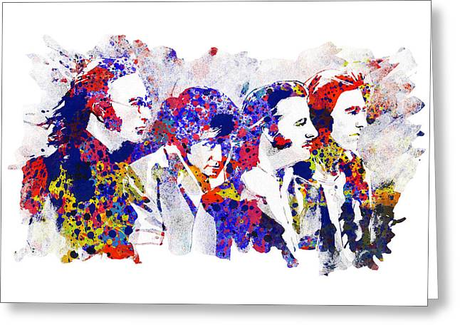 Paul Mccartney Drawings Greeting Cards - The Beatles 4 Greeting Card by MB Art factory