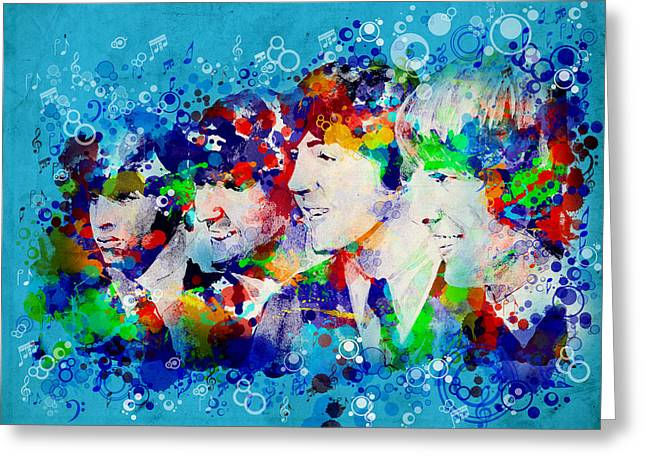 1960 Greeting Cards - The Beatles 6 Greeting Card by MB Art factory