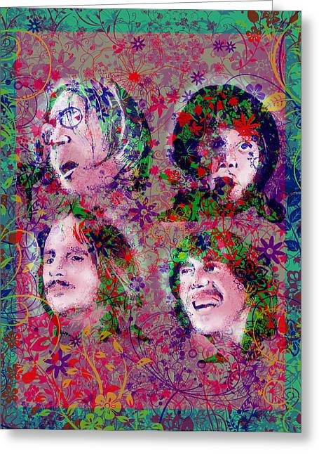 The Beatles 8 Greeting Card by Bekim Art
