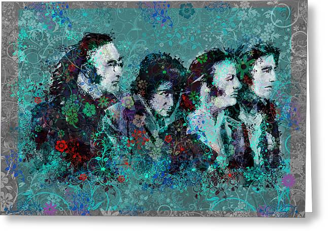 British Portraits Digital Art Greeting Cards - The Beatles 9 Greeting Card by MB Art factory