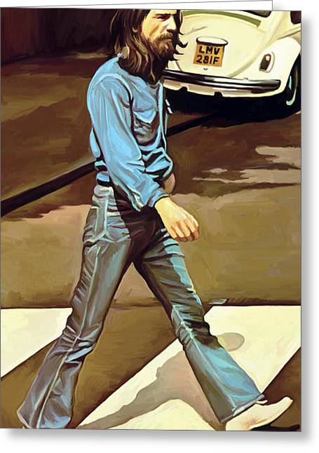 Lennon Mixed Media Greeting Cards - The Beatles Abbey Road Artwork Part 1 of 4 Greeting Card by Sheraz A