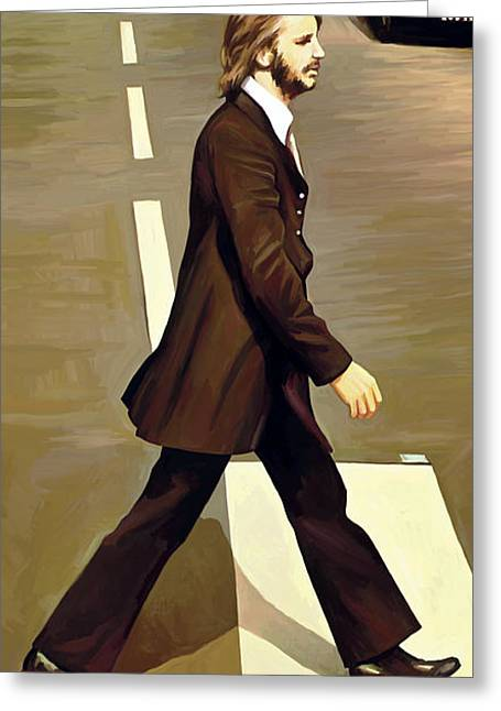 John Lennon Art Greeting Cards - The Beatles Abbey Road Artwork Part 3 of 4 Greeting Card by Sheraz A