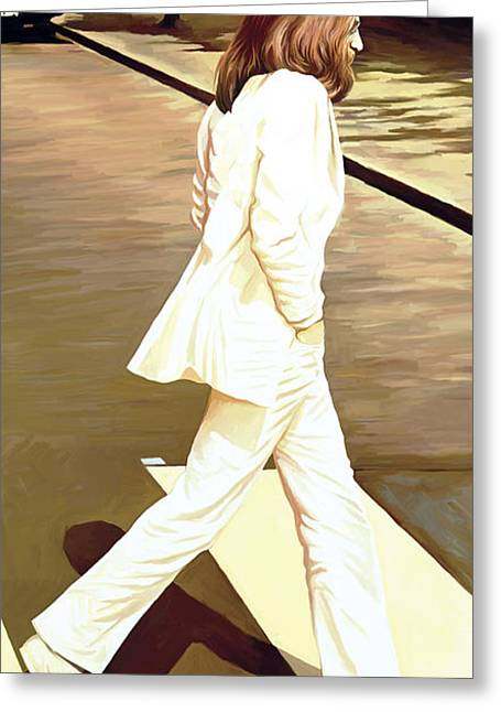 John Lennon Art Greeting Cards - The Beatles Abbey Road Artwork Part 4 of 4 Greeting Card by Sheraz A