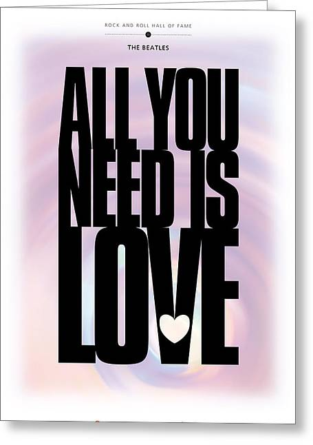 The Beatles All You Need Is Love Greeting Cards - The Beatles - All You Need Is Love Greeting Card by David Davies