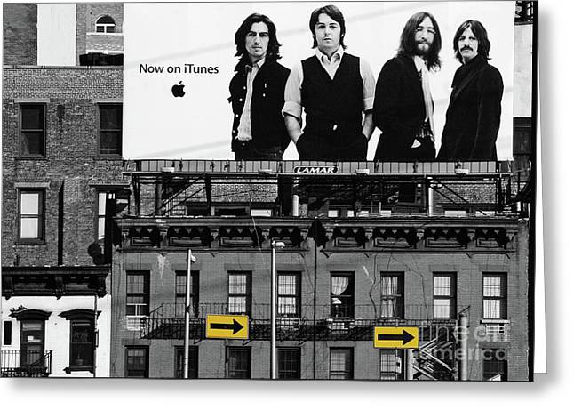 Rock N Roll Greeting Cards - The Beatles and Apple in New York City Greeting Card by Anahi DeCanio Photography