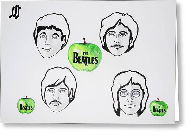 Paul Mc Cartney Greeting Cards - The Beatles Apple 1 Greeting Card by Kenneth A Mc Williams