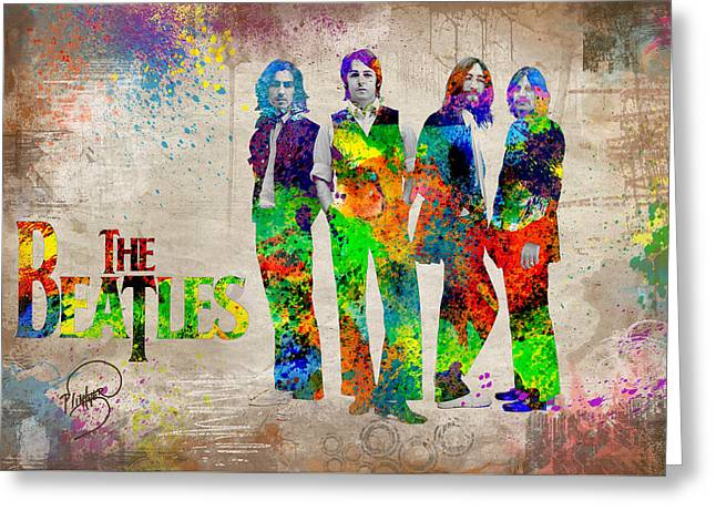 Sgt Peppers Digital Art Greeting Cards - The Beatles Greeting Card by Patricia Lintner