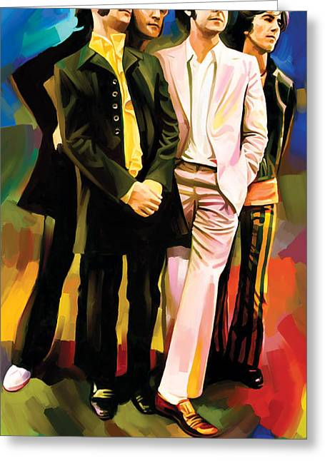John Lennon Art Greeting Cards - The Beatles Artwork 3 Greeting Card by Sheraz A