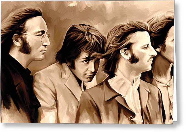 John Lennon Art Greeting Cards - The Beatles Artwork 4 Greeting Card by Sheraz A