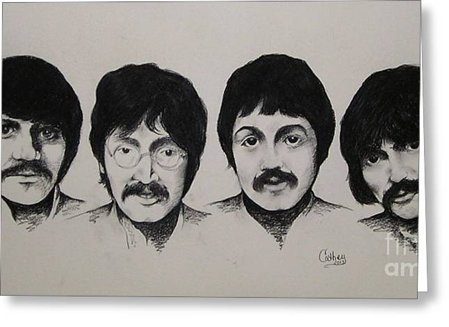 Ringo Starr Drawings Greeting Cards - The Beatles Greeting Card by Catherine Howley