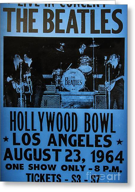Hollywood Bowl Greeting Cards - The Beatles Live At The Hollywood Bowl Greeting Card by Mitch Shindelbower