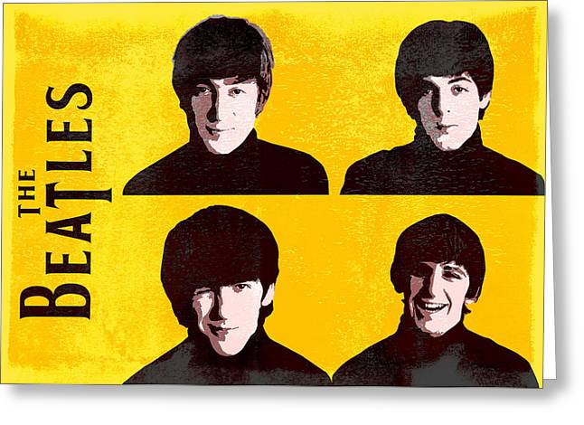 Pater Greeting Cards - The Beatles  Greeting Card by Mihaela Pater