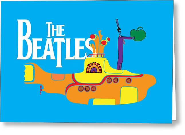Rock Guitar Player Greeting Cards - The Beatles No.11 Greeting Card by Caio Caldas