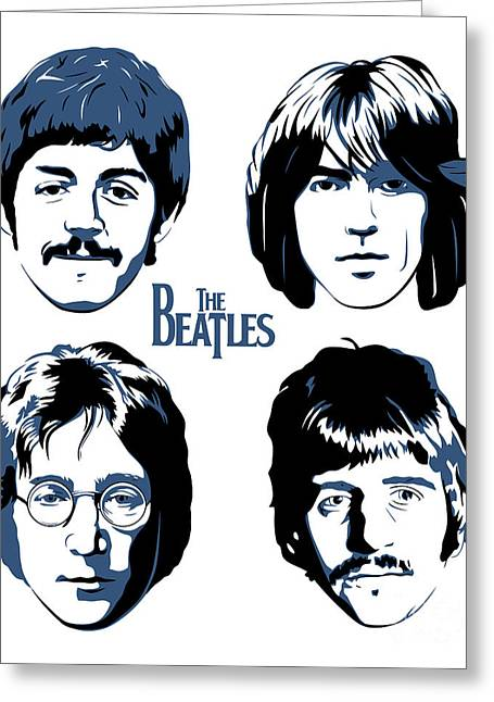 Paul Mccartney Greeting Cards - The Beatles No.18 Greeting Card by Caio Caldas
