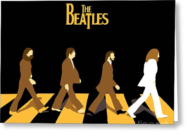 Rock N Roll Greeting Cards - The Beatles No.19 Greeting Card by Caio Caldas