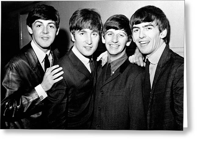 Pop Singer Photographs Greeting Cards - The Beatles Greeting Card by Nomad Art And  Design