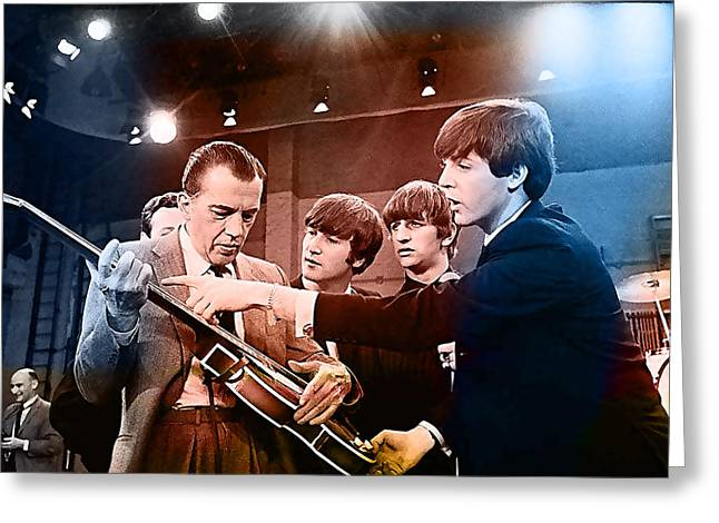 Paul Greeting Cards - The Beatles on The Ed Sullivan Show Greeting Card by Marvin Blaine