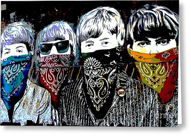Kerchief Greeting Cards - The Beatles Greeting Card by RicardMN Photography