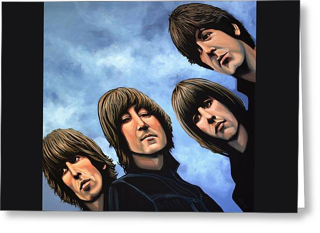 The Beatles Rubber Soul Greeting Card by Paul Meijering