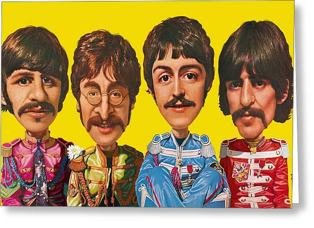 Sgt Peppers Digital Art Greeting Cards - The Beatles Greeting Card by Scott Ross