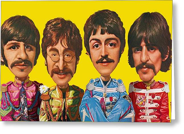 The Beatles Greeting Card by Scott Ross