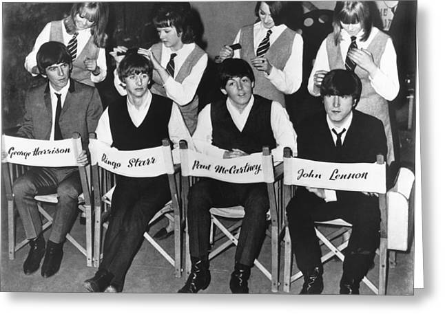 The Beatles Greeting Card by Underwood Archives