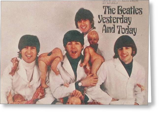 The Beatles Yesterday and Today Butcher Album Cover Greeting Card by Donna Wilson