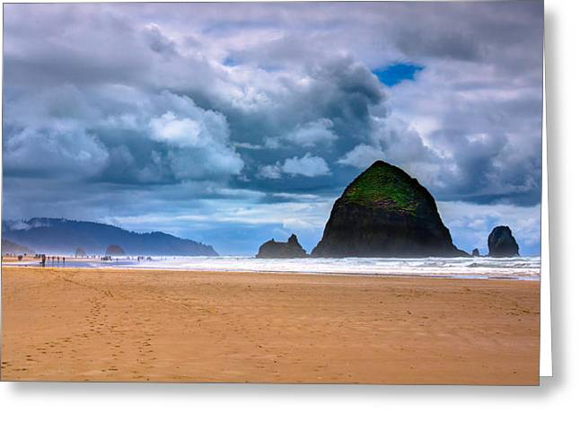 Ocean Scenes Greeting Cards - The Beautiful Cannon Beach Greeting Card by David Patterson