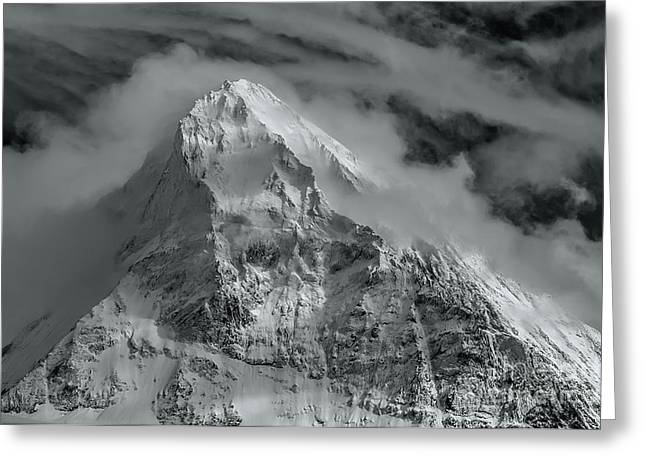 Swiss Photographs Greeting Cards - The Beautiful Dent Blanche in Switzerland Greeting Card by Colin Woods