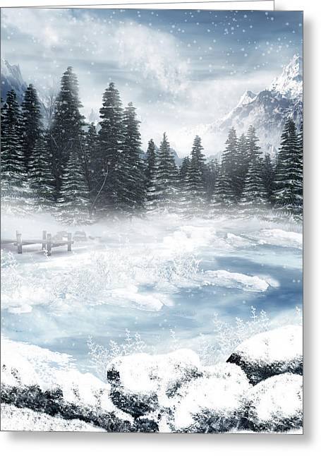 Team Pyrography Greeting Cards - The Beautiful Gothic Winter Greeting Card by Boon Mee