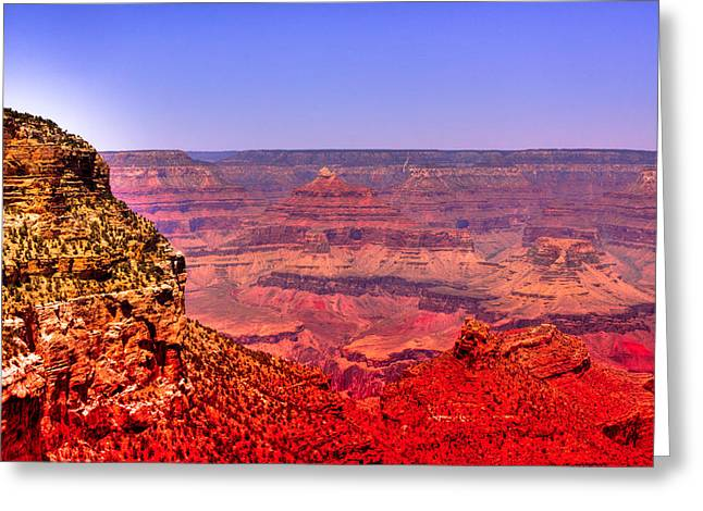 Hdr Landscape Greeting Cards - The Beautiful Grand Canyon Greeting Card by David Patterson