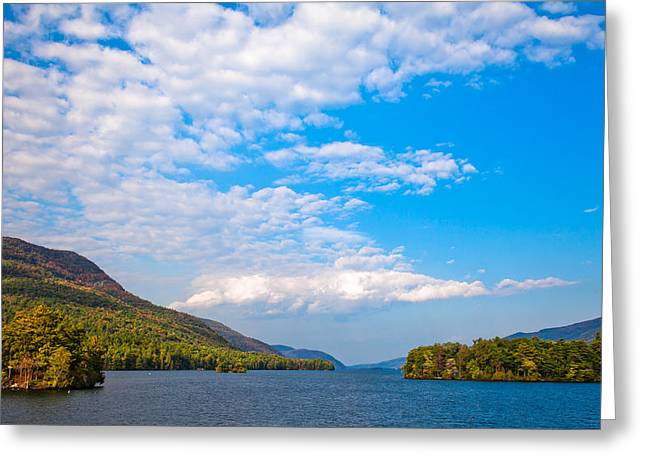 Fir Trees Greeting Cards - The Beautiful Lake George New York Greeting Card by David Patterson
