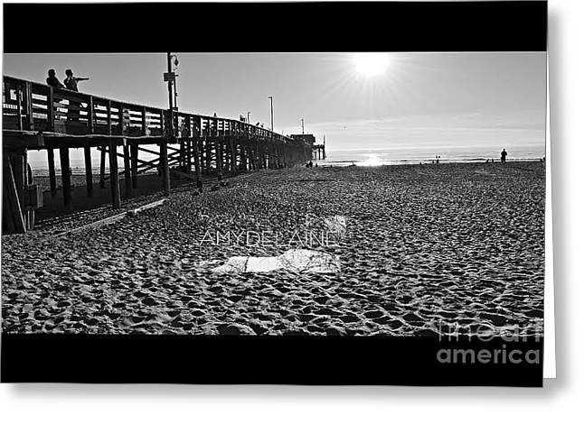 Beach Photography Greeting Cards - The Beautiful Pier Southern Cali  Greeting Card by Amy Delaine