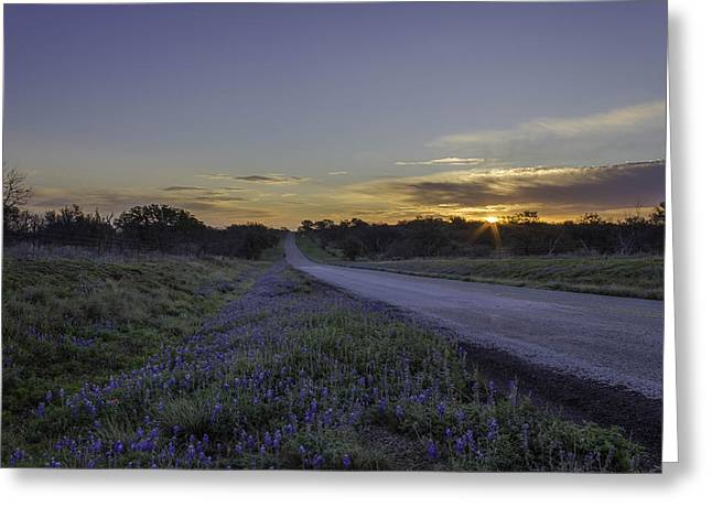 Jeffrey W Spencer Greeting Cards - The Beautiful Road at Sunrise Greeting Card by Jeffrey W Spencer