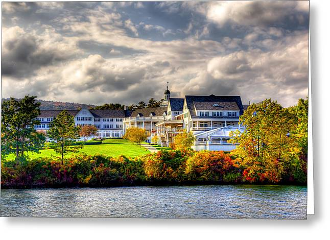 David Patterson Greeting Cards - The Beautiful Sagamore Hotel on Lake George Greeting Card by David Patterson