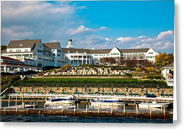 Aderondacks Greeting Cards - The Beautiful Sagamore Hotel on Lake George II Greeting Card by David Patterson