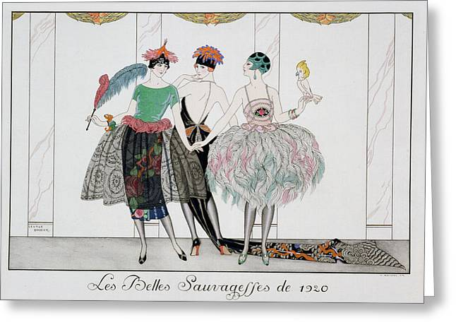 Evening Dress Greeting Cards - The Beautiful Savages Greeting Card by Georges Barbier