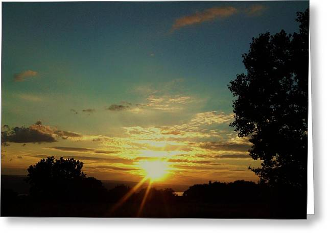 Cloudy Pastels Greeting Cards - The Beautiful Sunset Greeting Card by Jo-Ann Hayden