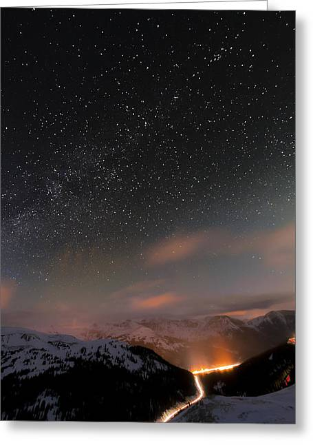 Summit County Greeting Cards - The Beauty Above Greeting Card by Mike Berenson