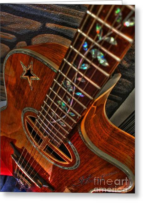Acoustical Digital Art Greeting Cards - The Beauty Of A Six String Digital Guitar Art by Steven Langston Greeting Card by Steven Lebron Langston