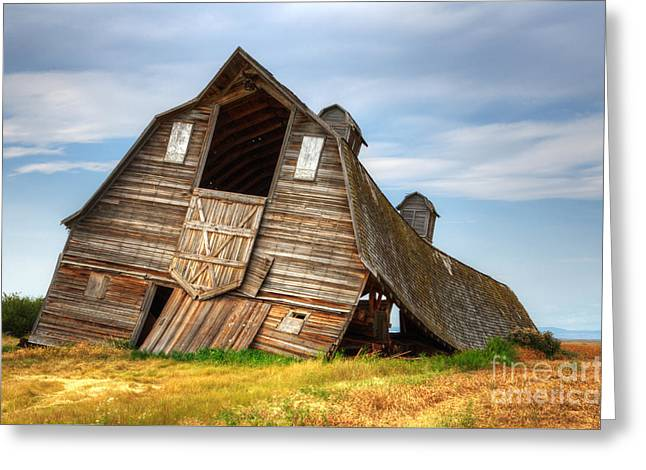Alberta Landscape Greeting Cards - The Beauty Of Barns  Greeting Card by Bob Christopher
