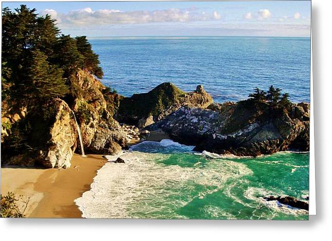 Recently Sold -  - Pfeiffer Beach Greeting Cards - The Beauty of Big Sur Greeting Card by Benjamin Yeager