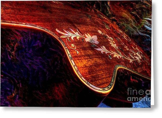 The Beauty Of Inlay Digital Guitar Art by Steven Langston  Greeting Card by Steven Lebron Langston