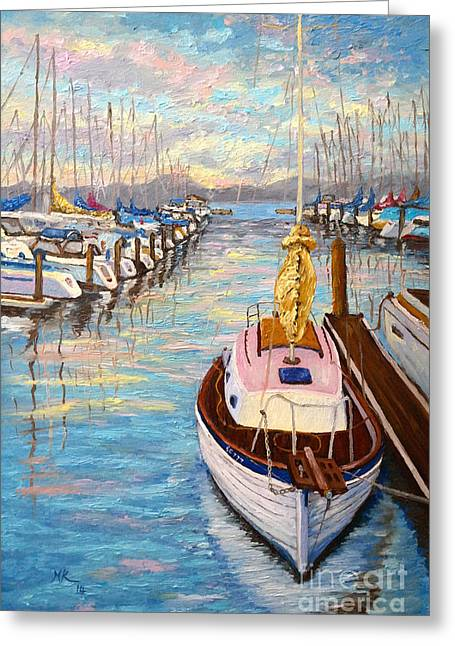 Sausalito Paintings Greeting Cards - The beauty of Sausalito  Greeting Card by Francesca Kee